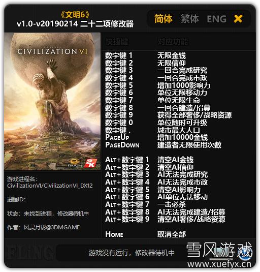 文明6中文版版下载 整合风云变幻+迭起兴衰全DLC 未加密破解版_多功能修改器-iD游源网